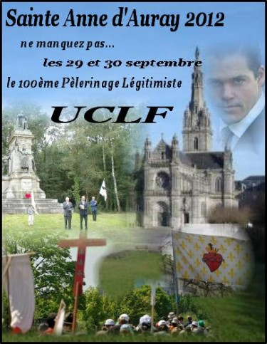 uclf, pèlerinage, légitimisme, bretagne, sainte anne d'auray